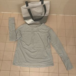 ATHLETA power up long sleeve shirt